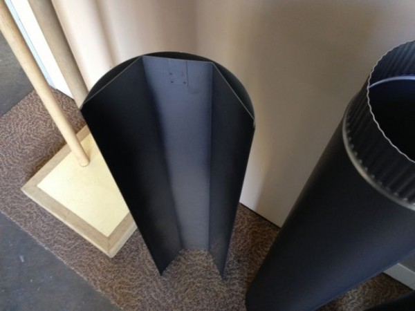 900 mm heat shield which permits reduction in wall clearance. Heat shield. Part of most flue kits. Used to protect the wall from heat damage.